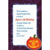 Playful Pumpkin Custom Invitation