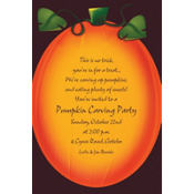 Pumpkin Glow Custom Invitation