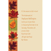 Autumn Hues Custom Invitation