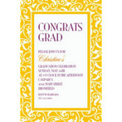 Yellow Sunshine Ornamental Scroll Custom Invitation