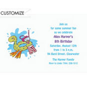 Pool Party Custom Invitation