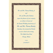Black Moroccan Border/Ecru Custom Invitation