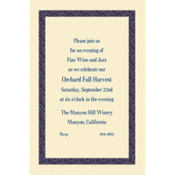 Navy Moroccan Border/Ecru Custom Invitation