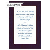 Navy Moire/White Custom Invitation