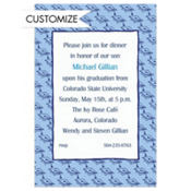 Mortarboard Pattern Custom Graduation Invitation