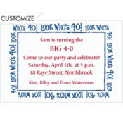 Look Who's 40! Custom Invitation