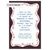 Over the Hill 50 Custom Invitation