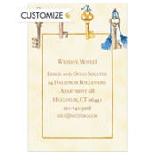 Antique Keys Custom Invitation