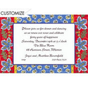 Country French Border Custom Invitation