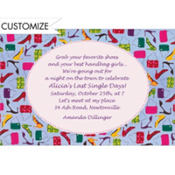 Shoes and Handbags Custom Invitation