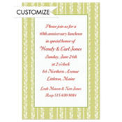 Honeydew Berry Stripe Custom Invitation