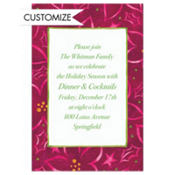 Poinsettia Pattern Custom Invitation