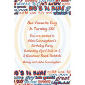 He's da Man! Custom Invitation