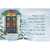 Christmas Front Door Custom Invitation