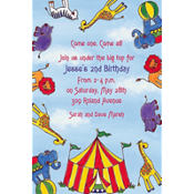 Flying Circus Custom Invitation