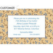 Graphic Vines & Berries Custom Invitation