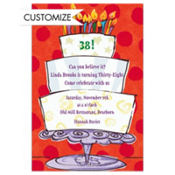 Three-Tier Birthday Cake Custom Invitation