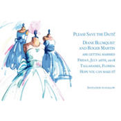 Bride & Maids Gowns Custom Wedding Invitation