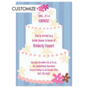 Mod Wedding Cake Custom Invitation