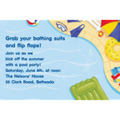 Summer Pool Party Custom Invitation