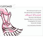Tallis with Torah Feminine Custom Invitation