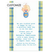 Baby Boy Portrait Custom Baby Shower Invitation