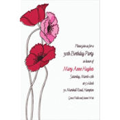 Pretty Poppy Stems Custom Invitation