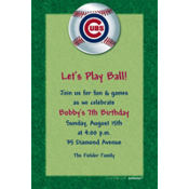 Chicago Cubs Custom Invitation