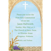 Cross, Candles and Wheat Custom Invitation
