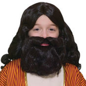 Child Biblical Wig & Beard Set