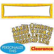 Yellow Personalized Banner
