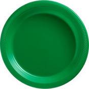Festive Green Plastic Dinner Plates 50ct