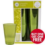 Avocado Premium Plastic Tumblers 36ct