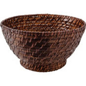 Brown Bamboo Bowl 11in