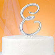 Monogram E Wedding Cake Topper