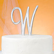 Monogram W Wedding Cake Topper