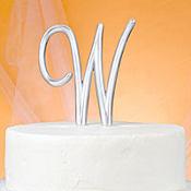 Monogram W Cake Topper