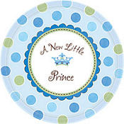 Little Prince Baby Shower Dinner Plates 8ct