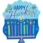 Hanukkah Menorah Cutout Decoration 15in