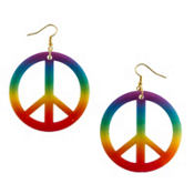 Rainbow Peace Hippie Earrings