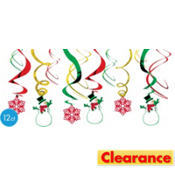 Holiday Symbols Swirl Hanging Decorations 12ct