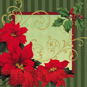 Vintage Poinsettia Dinner Napkins 36ct