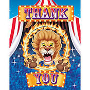 Big Top Birthday Thank You Notes 8ct