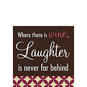 Red Good Spirits Beverage Napkins 16ct