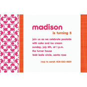 Fresh Hues Bright Pink Custom Invitation