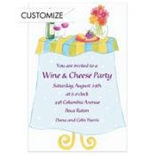 Wine & Cheese Table Custom Invitation