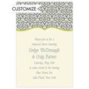 Fancy Finish Lime Custom Invitation