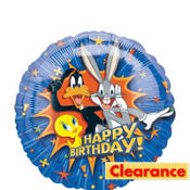 Foil Looney Tunes Birthday Balloon 18in