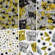 Black, Gold & Silver New Year's Confetti
