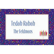 Hanukkah Playful Menorah Custom Thank You Note